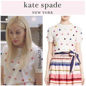 Kate Spade Pom Pom sweater XS NWT